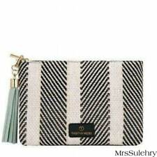 Fashion Zebra -Pendant Zipper - CLUTCH BAG / PURSE - Faux Leather/ Cotton Lining