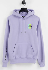 The North Face Mens Distorted Half Dome Hoodie Purple Sz S M L XXL
