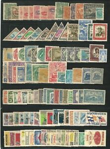 Nicaragua: Lot of 100 different stamps, used, unused good lot. NI10/