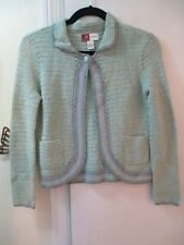JM Collection - Knit Sweater w/Collar & one button closure - Size P -  L/Sleeves