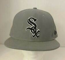 5f3f5a88da881 Size  8. CHICAGO WHITE SOX GRAY MLB NEW ERA 59FIFTY FITTED HAT CAP 7 ...