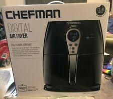 Chefman Air Fryer with Digital Display Adjustable Temperature Control 2.5L Black