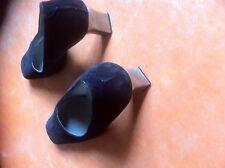 Chaussures daim bleu marine