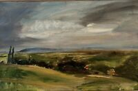 Framed Landscape Oil Painting On Board 26.5x39cm