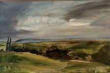 Framed Landscape Oil Painting On Board 26.5x39cm