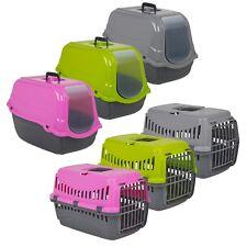 Perro Gato Transportador Mascota Cesto portátil de viaje Perrera con tapa