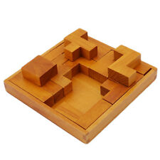 Adult Kids Educational Toy Wooden Traditional Luban Lock Brain Teaser Game Jian