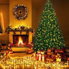 6/7ft Xmas Christmas Tree Decor Warm White LED Lights 300LED String Light