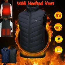 Unisex USB Beheizbare Jacke Heizweste Wärmeweste Winter Beheizte Vest 9 Größen