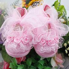 Infant Newborn Toddler Baby Girls Princess Non-Slip Lace Flower Shoes HOT SALE