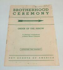 BSA - OA…BROTHERHOOD CEREMONY…1965 PRINTING