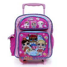 """LOL Surprise Small School Roller Backpack 12"""" Rolling Trolley Bag Toddler Size"""