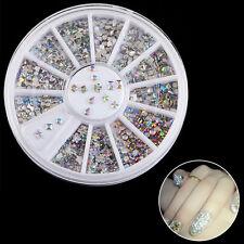 3D Nail Art Bricolage Mode Conseils Décor 6 Motif Metallic Glitter strass 1 Roue