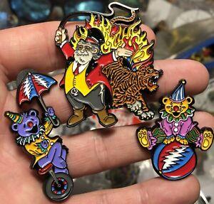 Grateful Dead Circus 3 Pin Set Jerry Garcia The Original Tiger King Bear Clowns