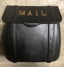 Cast Iron Saddlebag Mailbox - Heavy Duty Wall Mount Mailbox