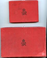 2 BOXES FOR THE 1937 UK  PROOF SET OF COINS. 4 COIN GOLD SET & 15 COIN SET