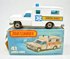"Matchbox No.41C Ambulance white body ""Blue Cross"" labels mint/boxed"