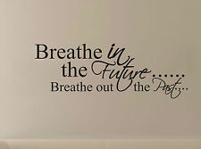 Inspirational Wall Quote Sticker Removable Decal - Breathe in The Future