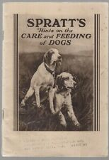 "[24798] ""SPRATT'S HINTS ON THE CARE OF DOGS"" VINTAGE GUIDE BOOK (DATE UNKNOWN)"