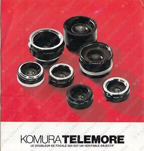 Komura telemore Camera lens reflex *depliant vintage
