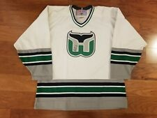 NHL Hartford Whalers CCM Replica White Jersey - XL - SIGNED By Bobby Holik