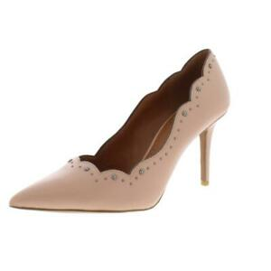 Coach Womens Waverly Leather Embellished Pointed Toe Stilettos Shoes BHFO 5107