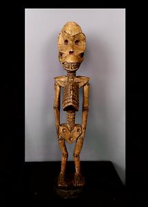 Old Tribal Bakongo Fetish Skeleton Figure    ---  Congo