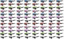 96 WHOLESALE BULK SUNGLASSES CLASSIC VINTAGE RETRO 2TONE SMOKE LENS SHADES UV400