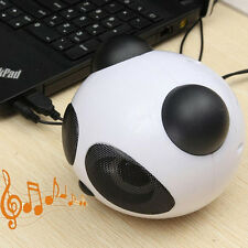 USB 2 Speaker 3.5mm Panda Wired Mini Portable Subwoofer for Tablet iPad Computer