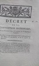 Décret mode d échange & remboursement billets parchemins  ou maison Secours 1792