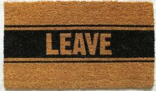 Leave Coir Fiber Welcome Mat Door Home Decor Humor Funny FREE SHIPPING