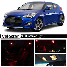 8x Red LED Lights Interior Package Kit for 2011-2015 Veloster