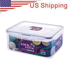 [Lock & Lock] Plastic Clip Lid Classic Rectangular Food Storage Container (5.5L)