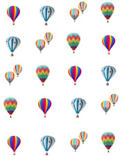 Hot Air Balloons Waterslide Nail Decals/Nail art