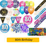 AGE 80 - Happy 80th Birthday Party Decorations (Oaktree) Banners & Bunting