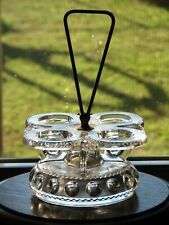 US Glass KINGS CROWN Clear Castor/Condiment Holder - chipped