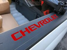 Colormatched Red Hot Bed Rail Cap Vinyl Decal Inserts For 2014-2018 Silverado