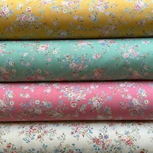 Timeless Cream Vintage Floral  100% Cotton fabric, Sewing, Craft, CREAM