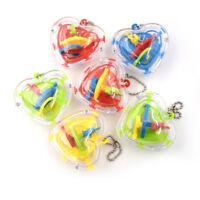 Kinder Herzform 3D Mini Intellekt Maze Ball Spielzeug KeyChain Balance Puzzle il