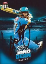 ✺Signed✺ 2017 2018 ADELAIDE STRIKERS Cricket Card JONO DEAN Big Bash League