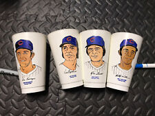 1972/73 7-11 Slurpee MLB Baseball Cups Chicago Cubs set of 4 Rare Mancave
