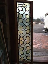 """Sg 1106 Antique Stainglass Transom Window 15 3/4"""" By 57 1/2"""