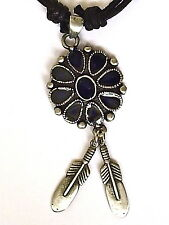 AMERICAN INDIAN PEWTER PENDANT MENS BOYS WOMENS GIRLS NECKLACE  LP042