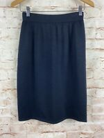 St. John Collection Womens Black Santana Knit Wool Skirt Size 4