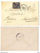 France type sage sur lettre cachet convoyeur 1897