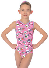 Girls 3//4 Sleeve Gymnastic Leotards Dancewear 5-6 Years Silver//Pink