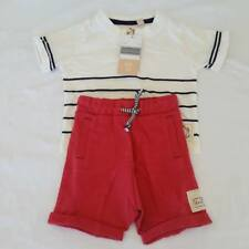 Baby Boy Two Piece Set Shorts Young Hearts Collette Dinnigan Size 00 NEW