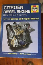 Citroen Diesel Engine 1984 - 1996 A - N Reg Haynes workshop Manual 1379
