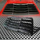 Fit For 08+challenger Gt/srt/r/t Coupe Rear Window Quarter Louvers Matte Black