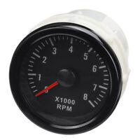 "2"" 52mm Auto Led Digital Contagiri Tachimetro 0-8000rpm Per Motore Benzina  &"